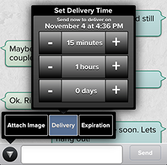 Schedule text message app