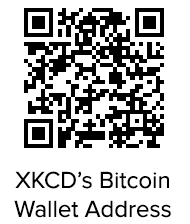 QR code wallet address for donating to web comic xkcd